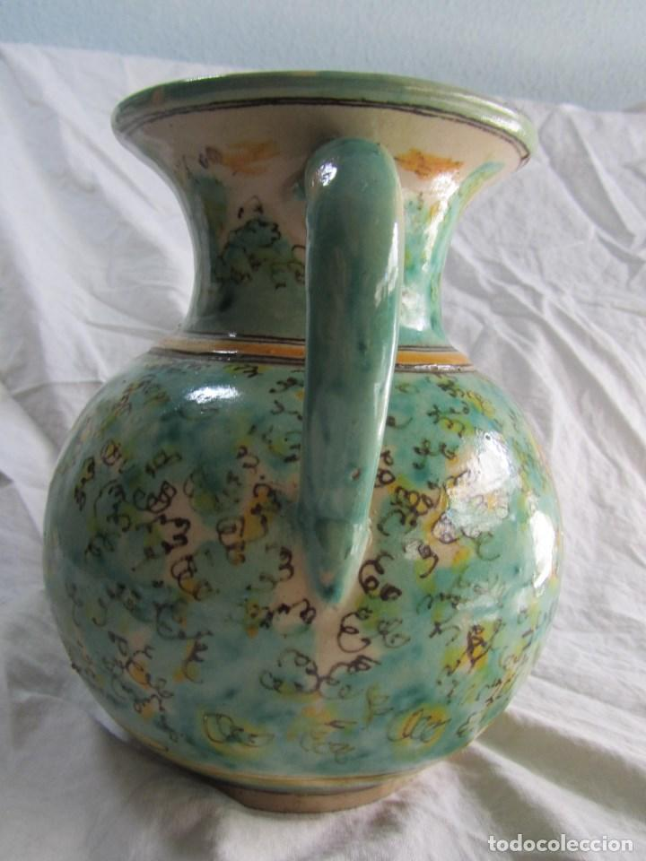 Antigüedades: Jarra de cerámica de Puente del Arzobispo Toledo Santa Fe - Foto 8 - 61848000