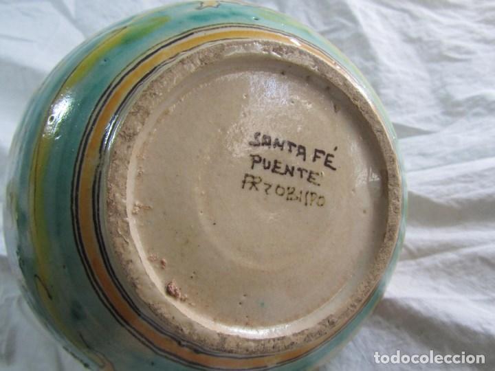 Antigüedades: Jarra de cerámica de Puente del Arzobispo Toledo Santa Fe - Foto 10 - 61848000