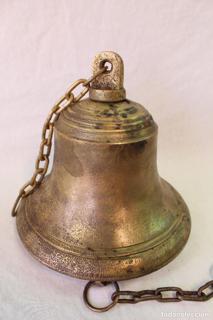 CAMPANA EN BRONCE-HIERRO FUNDIDO (Antigüedades - Hogar y Decoración - Campanas Antiguas)