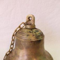 Antigüedades: CAMPANA EN BRONCE-HIERRO FUNDIDO. Lote 61871676