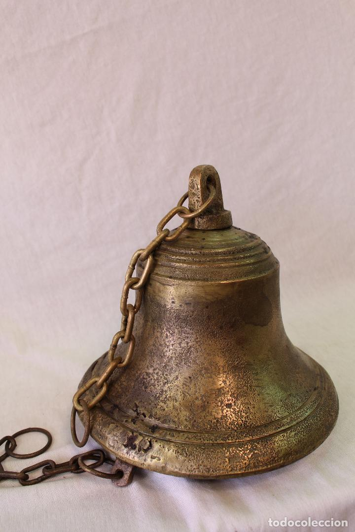 Antigüedades: campana en bronce-hierro fundido - Foto 2 - 61871676