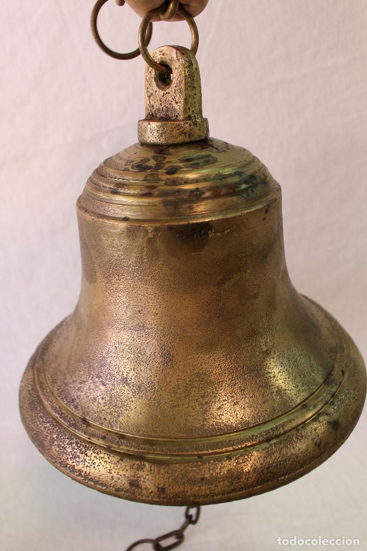 Antigüedades: campana en bronce-hierro fundido - Foto 3 - 61871676