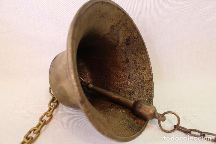 Antigüedades: campana en bronce-hierro fundido - Foto 5 - 61871676