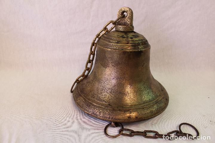 Antigüedades: campana en bronce-hierro fundido - Foto 6 - 61871676