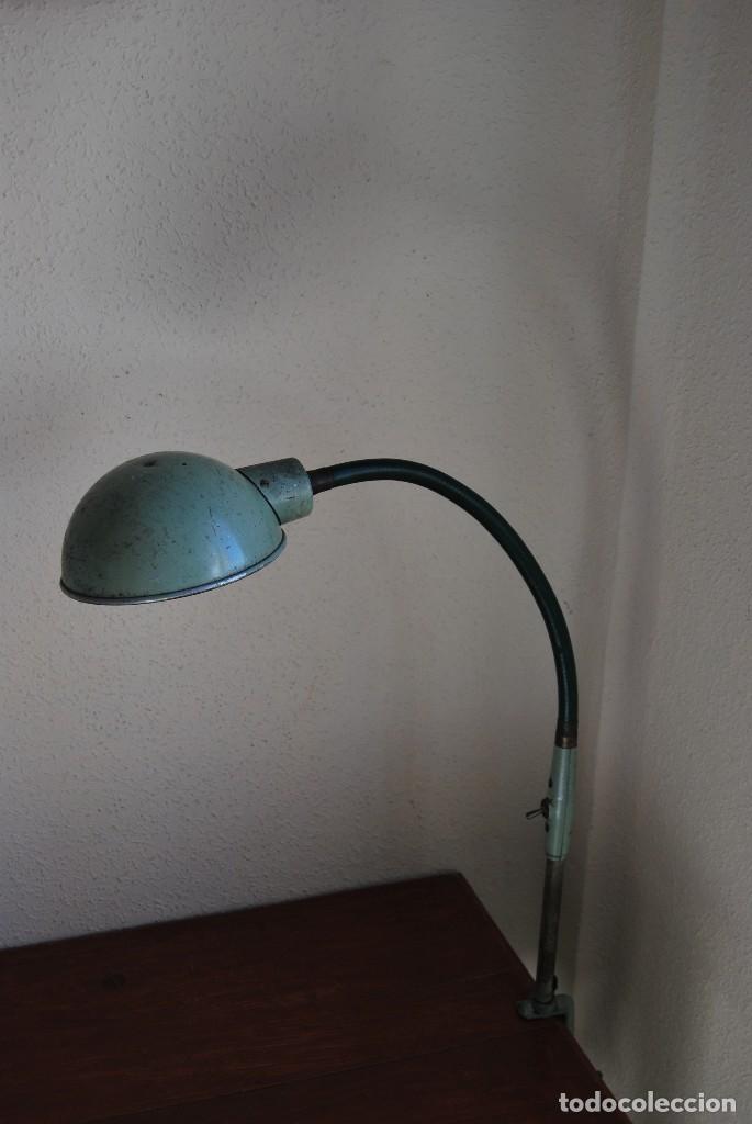 Antigüedades: LÁMPARA DE SOBREMESA - LAMPES ADHER - FRANCIA - DISEÑO INDUSTRIAL - AÑOS 40-50 - FLEXO - FOCO - Foto 2 - 61894356