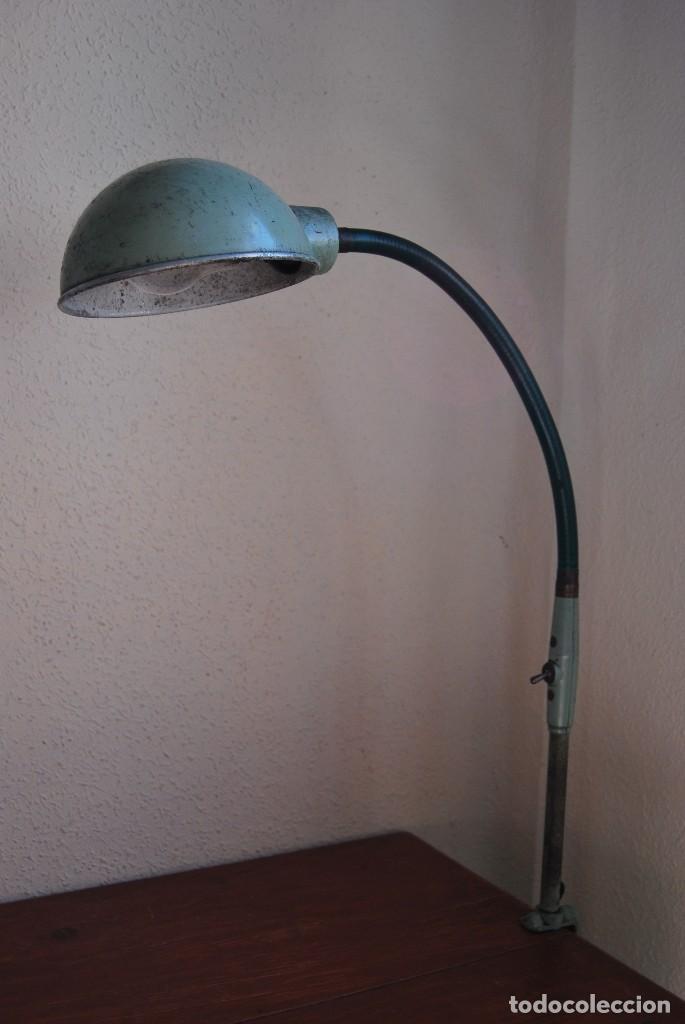 Antigüedades: LÁMPARA DE SOBREMESA - LAMPES ADHER - FRANCIA - DISEÑO INDUSTRIAL - AÑOS 40-50 - FLEXO - FOCO - Foto 3 - 61894356