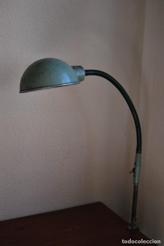 Antigüedades: LÁMPARA DE SOBREMESA - LAMPES ADHER - FRANCIA - DISEÑO INDUSTRIAL - AÑOS 40-50 - FLEXO - FOCO - Foto 4 - 61894356