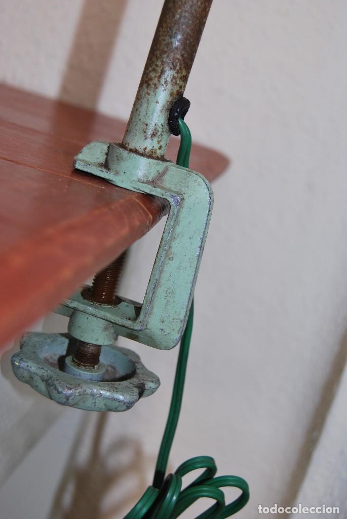 Antigüedades: LÁMPARA DE SOBREMESA - LAMPES ADHER - FRANCIA - DISEÑO INDUSTRIAL - AÑOS 40-50 - FLEXO - FOCO - Foto 5 - 61894356