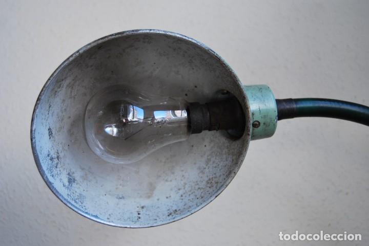 Antigüedades: LÁMPARA DE SOBREMESA - LAMPES ADHER - FRANCIA - DISEÑO INDUSTRIAL - AÑOS 40-50 - FLEXO - FOCO - Foto 10 - 61894356