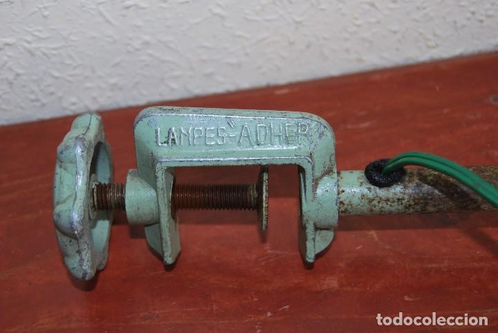Antigüedades: LÁMPARA DE SOBREMESA - LAMPES ADHER - FRANCIA - DISEÑO INDUSTRIAL - AÑOS 40-50 - FLEXO - FOCO - Foto 14 - 61894356
