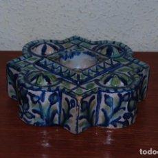 Antigüedades: TINTERO DE CERÁMICA DE GRANADA - FAJALAUZA. Lote 61900844