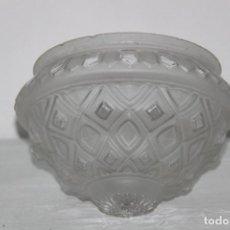 Antigüedades: ANTIGUO APLIQUE, TULIPA CIRCULAR DECORADA.. Lote 61913572