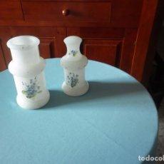 Antigüedades: 2 JARRONES DE ALABASTRO. Lote 61918436