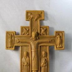 Antigüedades: CRISTO EN LA CRUZ EN RESINA-POULIRETANO. Lote 61948632