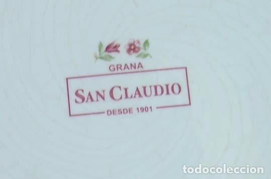 Antigüedades: ANTIGUO PLATO DECORADO DE CERÁMICA SAN CLAUDIO - Foto 3 - 61958324