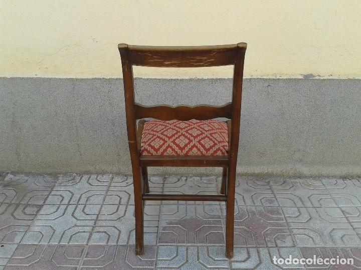 Antigüedades: Silla descalzadora antigua patas de sable estilo regencia. Silla descalzadora antigua retro vintage. - Foto 4 - 61975024