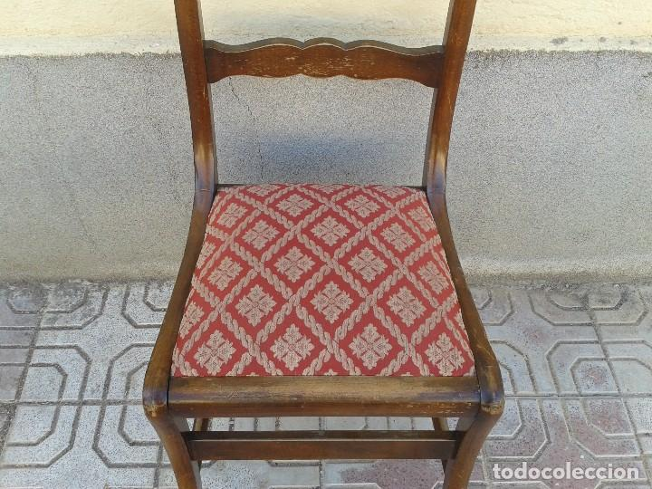 Antigüedades: Silla descalzadora antigua patas de sable estilo regencia. Silla descalzadora antigua retro vintage. - Foto 5 - 61975024