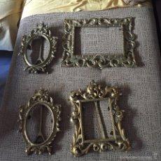 Antigüedades: LOTE DE 4 MARCOS EN BRONCE, GRAN TAMAÑO. Lote 61990316