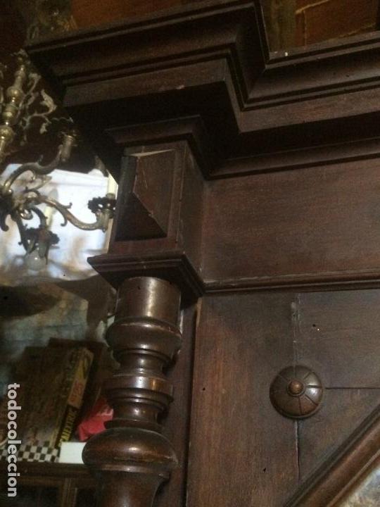 Antigüedades: Antiguo armario Alfonsino con espejo de madera de roble años 10-20 - Foto 4 - 62023272