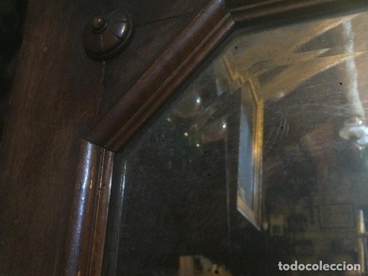 Antigüedades: Antiguo armario Alfonsino con espejo de madera de roble años 10-20 - Foto 5 - 62023272