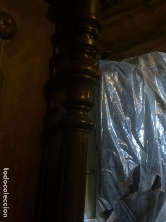 Antigüedades: Antiguo armario Alfonsino con espejo de madera de roble años 10-20 - Foto 7 - 62023272