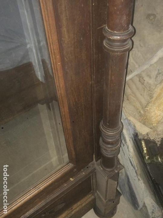 Antigüedades: Antiguo armario Alfonsino con espejo de madera de roble años 10-20 - Foto 8 - 62023272