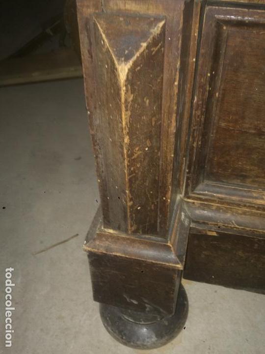 Antigüedades: Antiguo armario Alfonsino con espejo de madera de roble años 10-20 - Foto 11 - 62023272