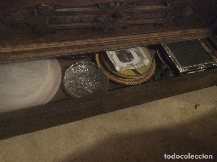 Antigüedades: Antiguo armario Alfonsino con espejo de madera de roble años 10-20 - Foto 14 - 62023272