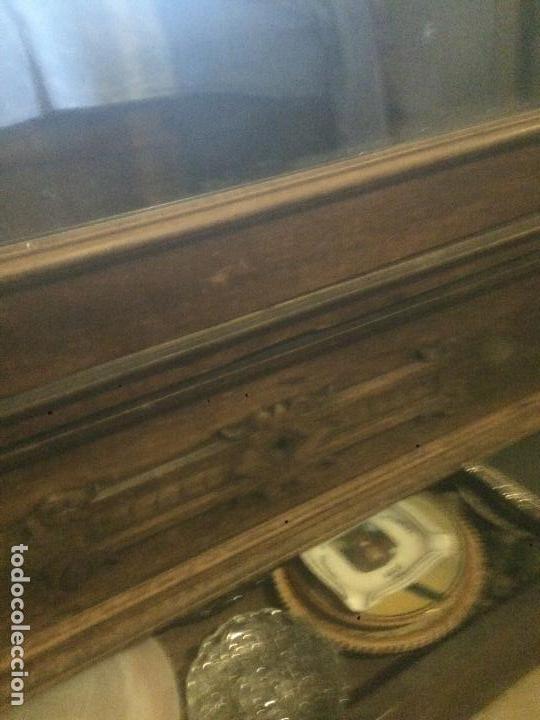 Antigüedades: Antiguo armario Alfonsino con espejo de madera de roble años 10-20 - Foto 15 - 62023272