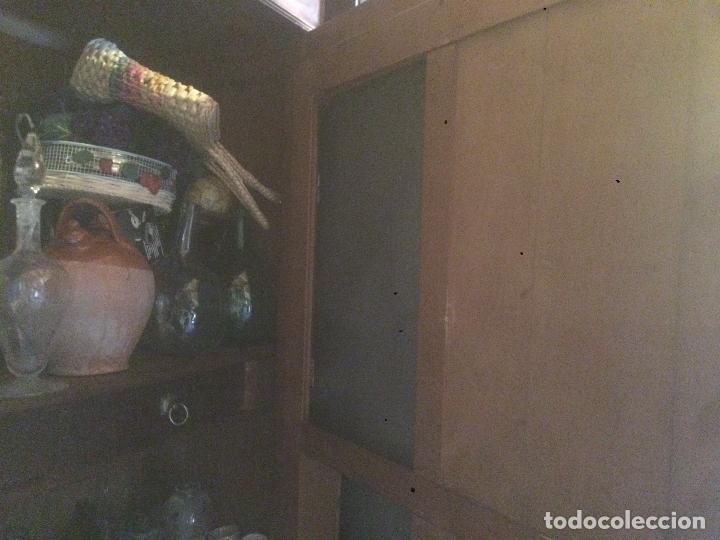 Antigüedades: Antiguo armario Alfonsino con espejo de madera de roble años 10-20 - Foto 17 - 62023272