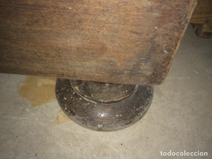 Antigüedades: Antiguo armario Alfonsino con espejo de madera de roble años 10-20 - Foto 24 - 62023272