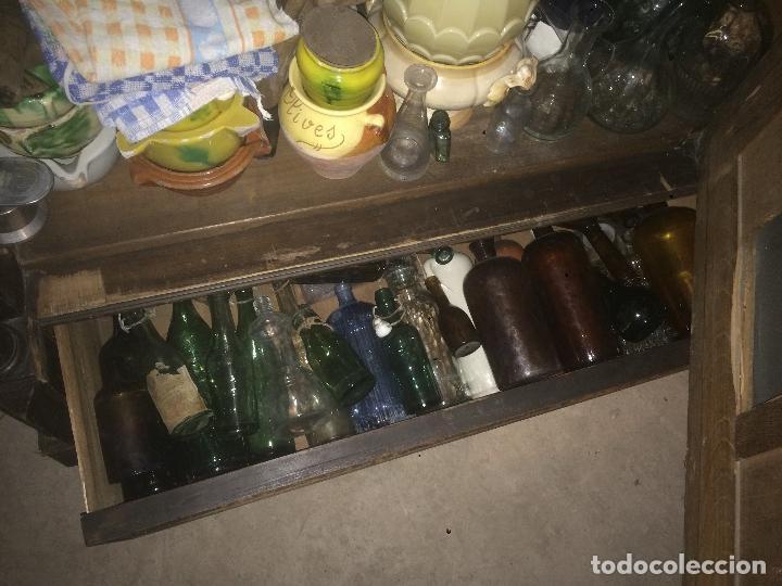 Antigüedades: Antiguo armario Alfonsino con espejo de madera de roble años 10-20 - Foto 25 - 62023272