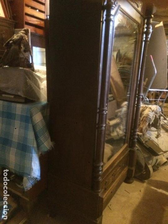 Antigüedades: Antiguo armario Alfonsino con espejo de madera de roble años 10-20 - Foto 28 - 62023272