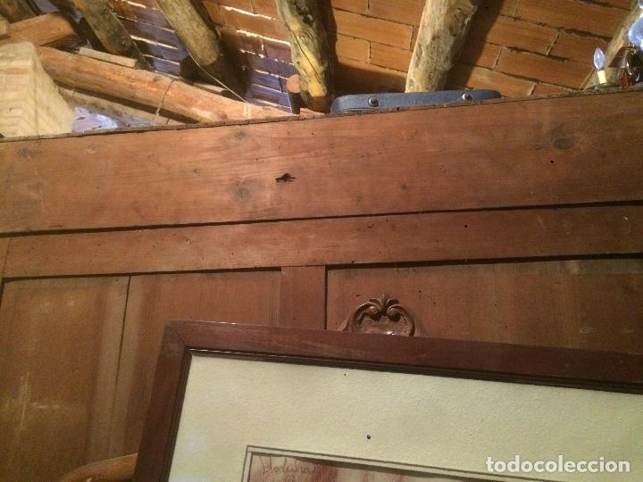 Antigüedades: Antiguo armario Alfonsino con espejo de madera de roble años 10-20 - Foto 29 - 62023272