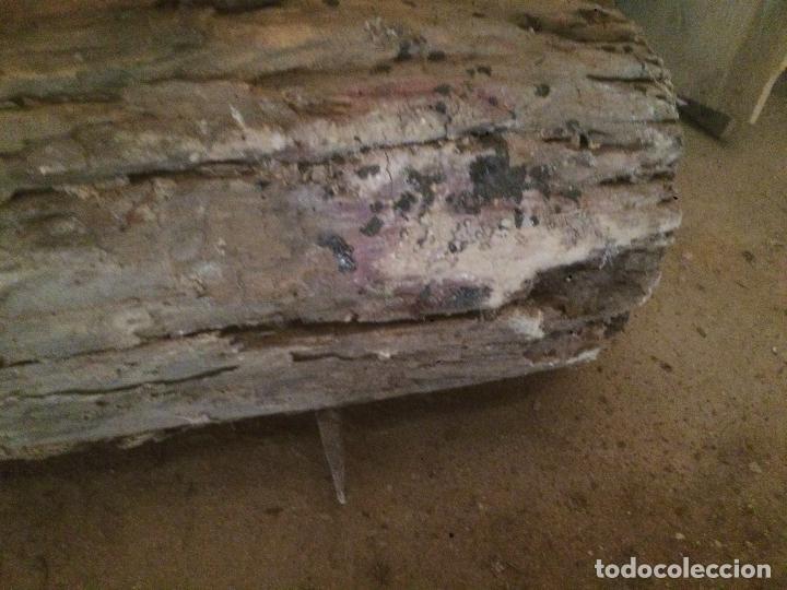 Antigüedades: Antiguo cilindro / corró catalan de madera y hierro para aplastar el trigo en la hera años 20-30 - Foto 8 - 62027660