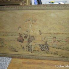 Antigüedades: ANTIGUO TAPÍZ CON ESCENA GOYESCA. 142 X 92 CMS.. Lote 62056040