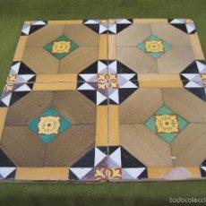 Antigüedades: LOTE DE 4 AZULEJOS ANTIGUOS DE MANISES / VALENCIA. - AZULEJO.. Lote 62060600
