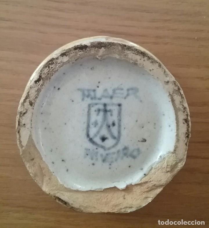 Antigüedades: Alfarería Talavera, salvadera secante, s. XIX-XX, sello Niveiro. - Foto 4 - 62084796
