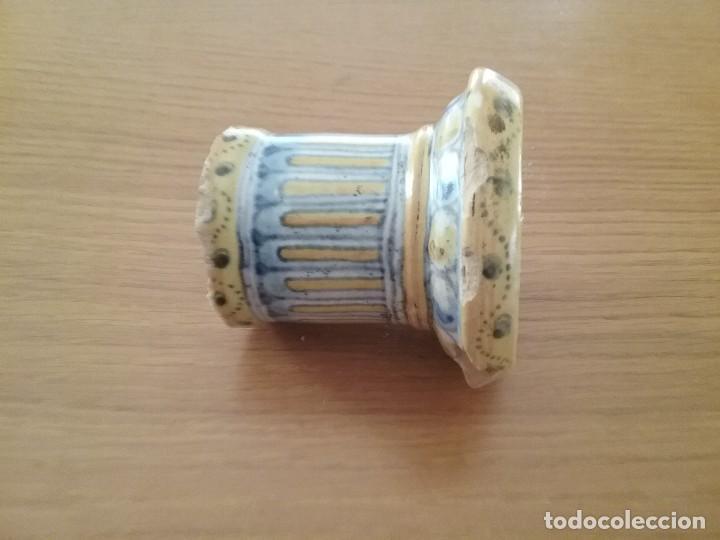 Antigüedades: Alfarería Talavera, salvadera secante, s. XIX-XX, sello Niveiro. - Foto 5 - 62084796