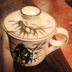 Antigüedades: TAZA CHINA DE TE CON TAPADERA.. Lote 62093576