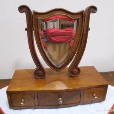 Antigüedades: ANTIGUO MUEBLE TOCADOR DE VIAJE EN MADERA ESTILO IMPERIO, . Lote 62108880