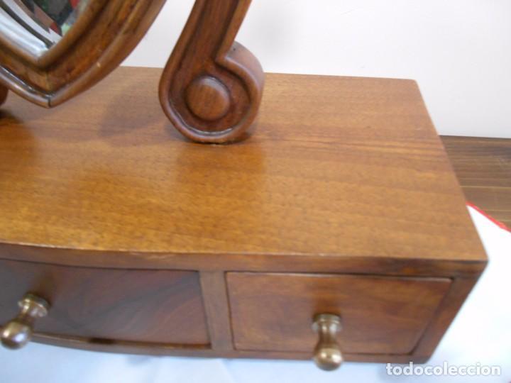 Antiguo mueble tocador de viaje en madera esti comprar - Muebles estilo antiguo ...