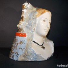 Antigüedades: ANTIGUA FIGURA DE PORCELANA // FALLERA Y FALLERO CON VIRGEN // GRAN PIEZA DE COLECCION. Lote 62109856