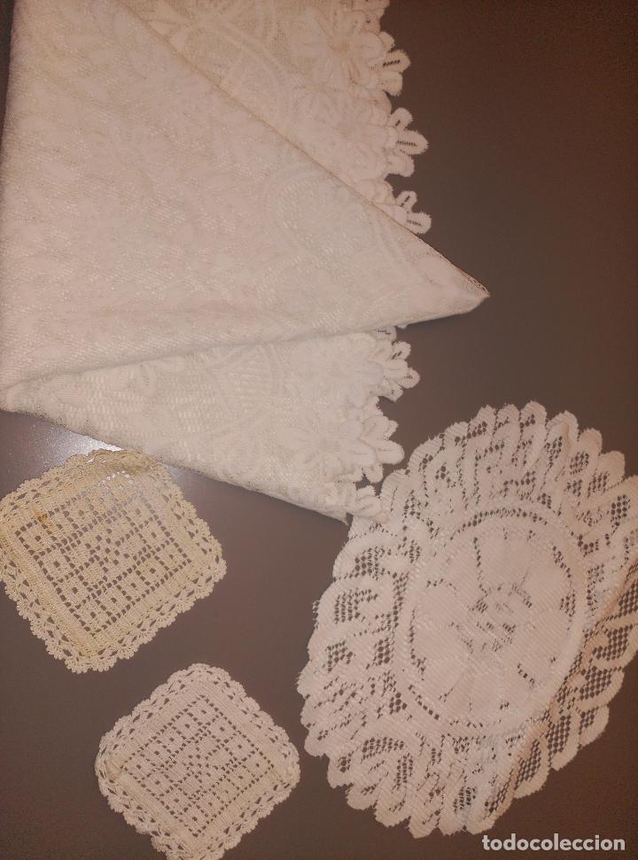 Antigüedades: manteles tapetes ganchillo - Foto 2 - 62144732