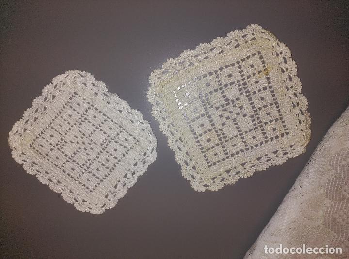 Antigüedades: manteles tapetes ganchillo - Foto 5 - 62144732