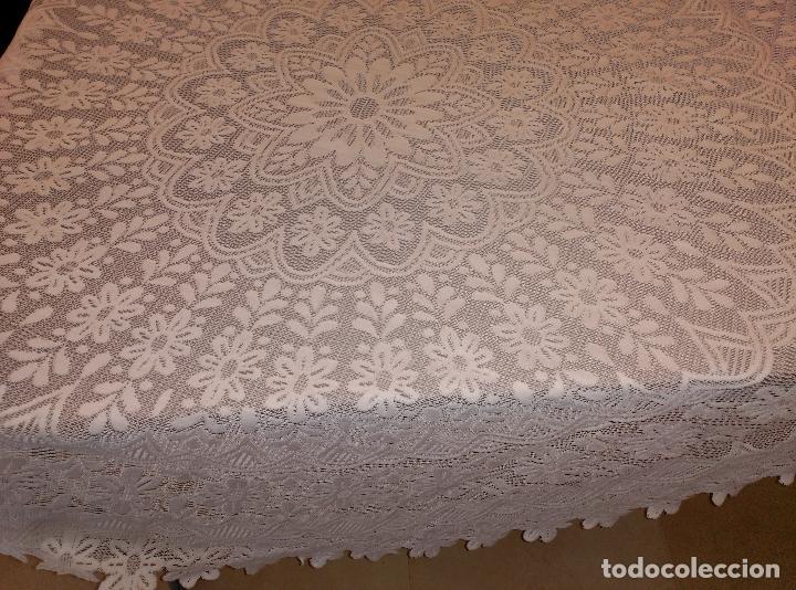 Antigüedades: manteles tapetes ganchillo - Foto 6 - 62144732