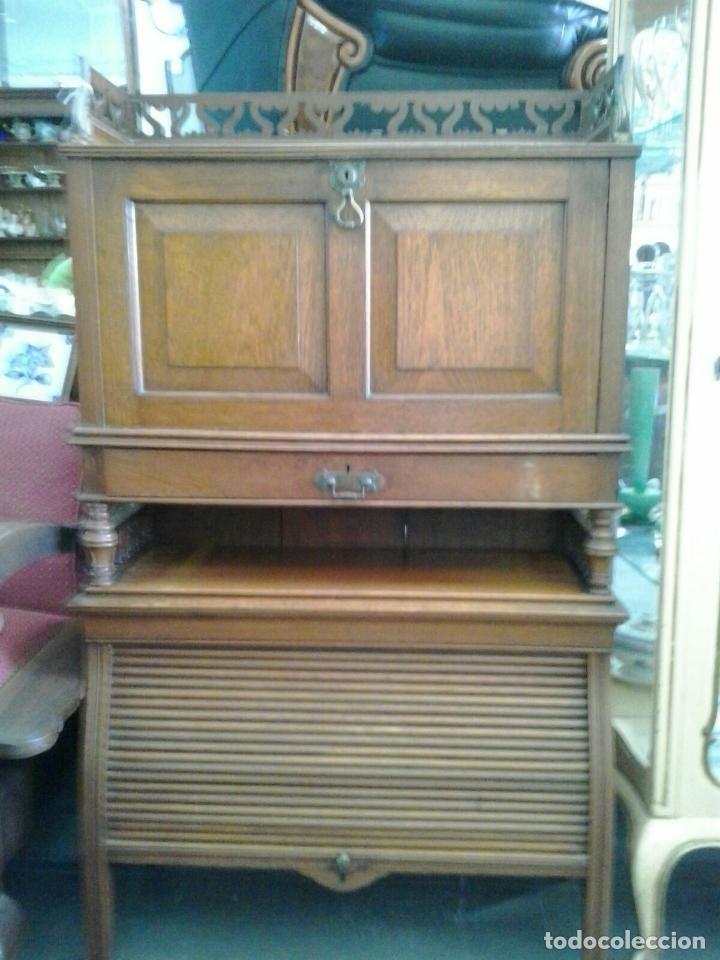 antiguo mueble escritorio inglés. roble. s. xix - Comprar ...