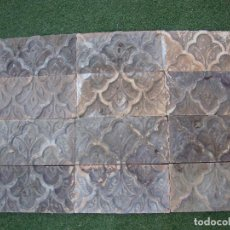 Antigüedades: LOTE AZULEJOS MUY ANTIGUOS SIGLO XVIII. Lote 62165560