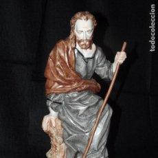 Antigüedades: SAN JOSÉ EN AUTÉNTICA PORCELANA ALGORA DOCUMENTADA. POCO FRECUENTE EN PERFECTO ESTADO.. Lote 62167504