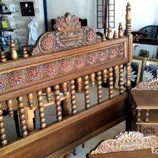 Antigüedades: ANTIGUO DORMITORIO EN MADERA TALLADA. Lote 62169500